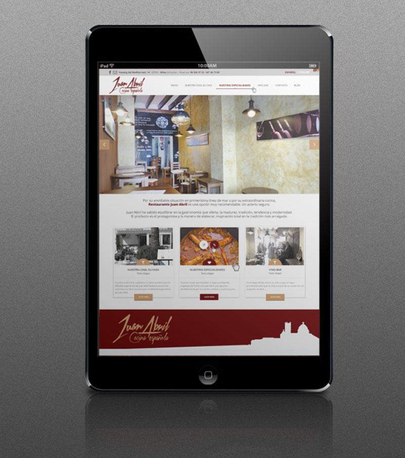 Bienvenidos y bienvenidas a la página web del restaurante Juan Abril