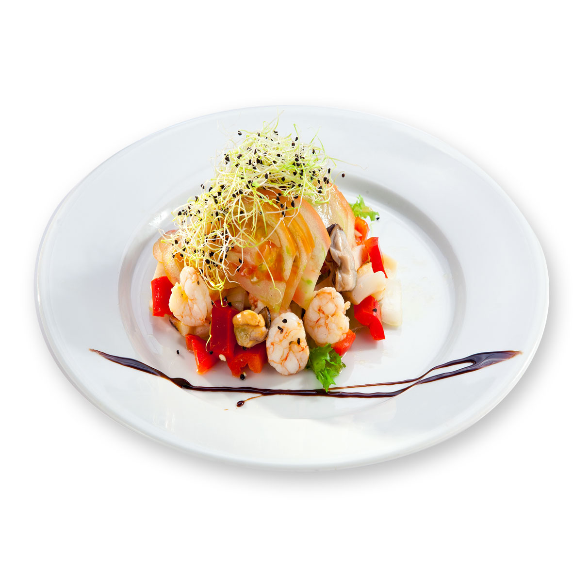 Restaurante Alicante Juan Abril - Platos - Timbal de mariscos