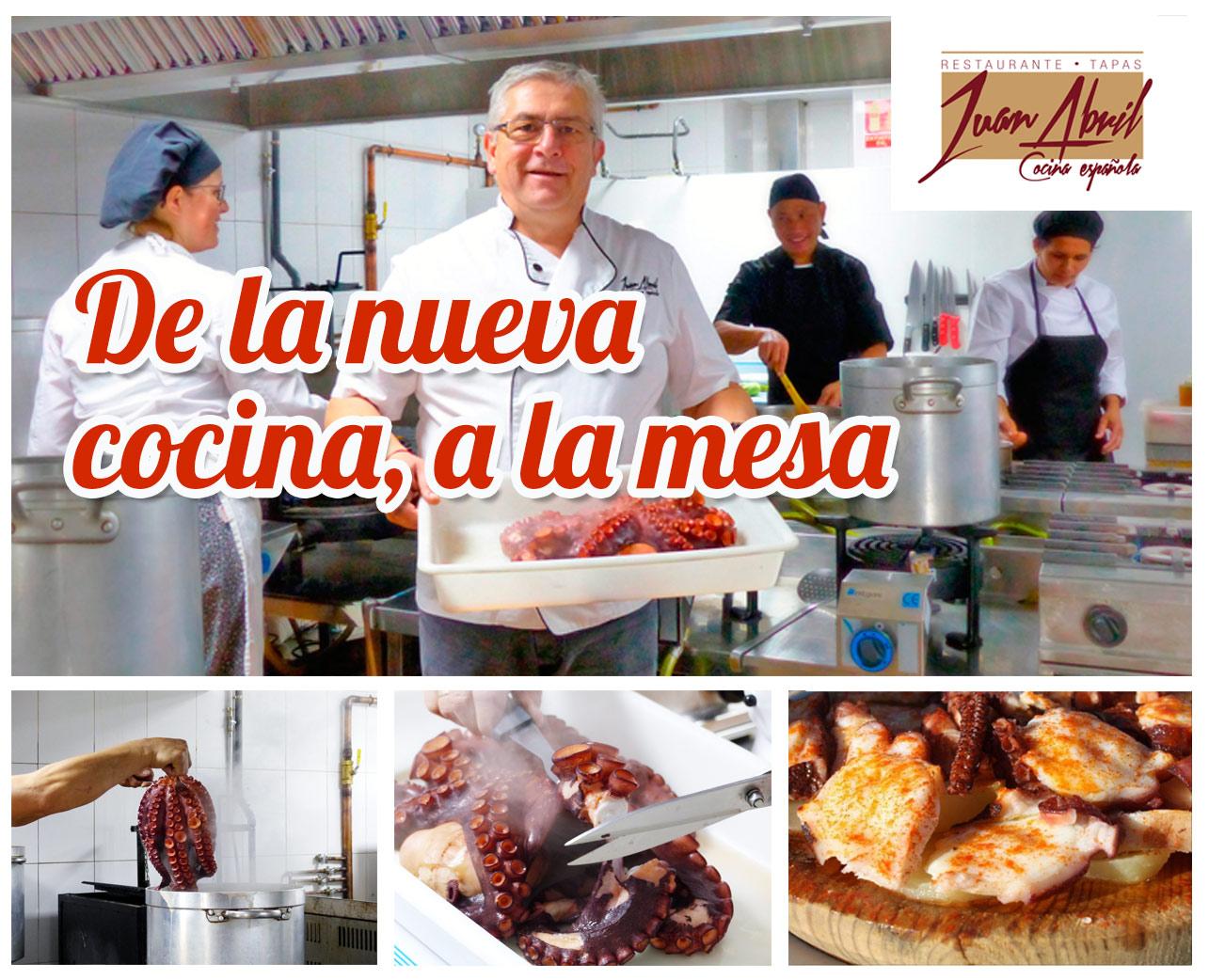 Y un pulpo la quiso inaugurar restaurante juan abril for La nueva cocina francesa