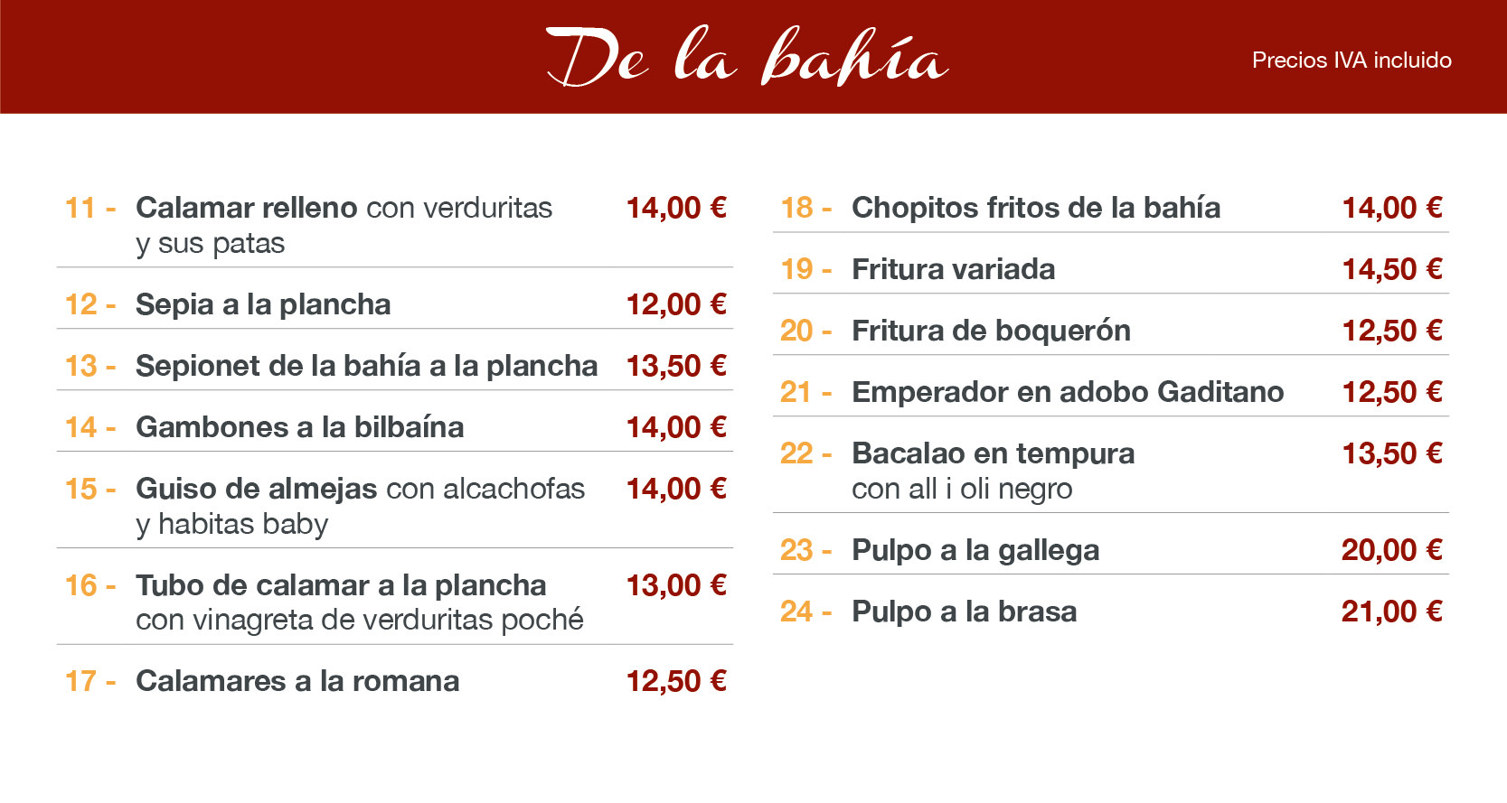 menu pescados altea