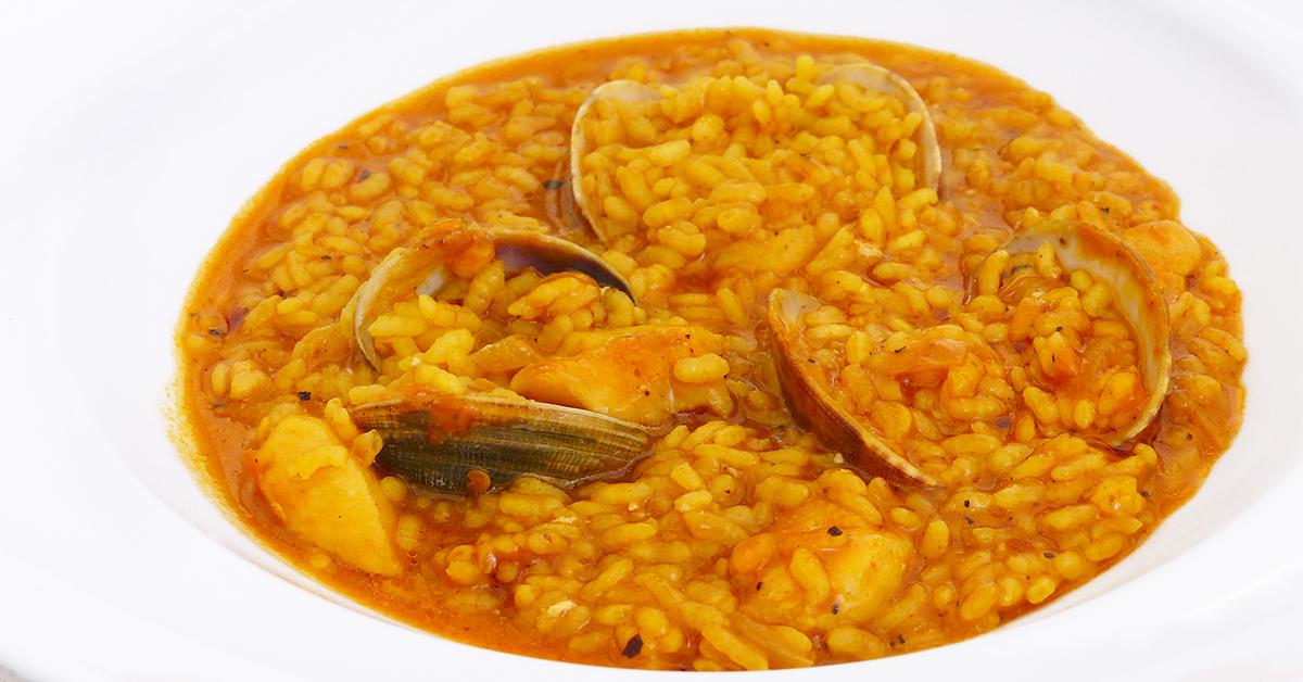 arroz meloso con almejas
