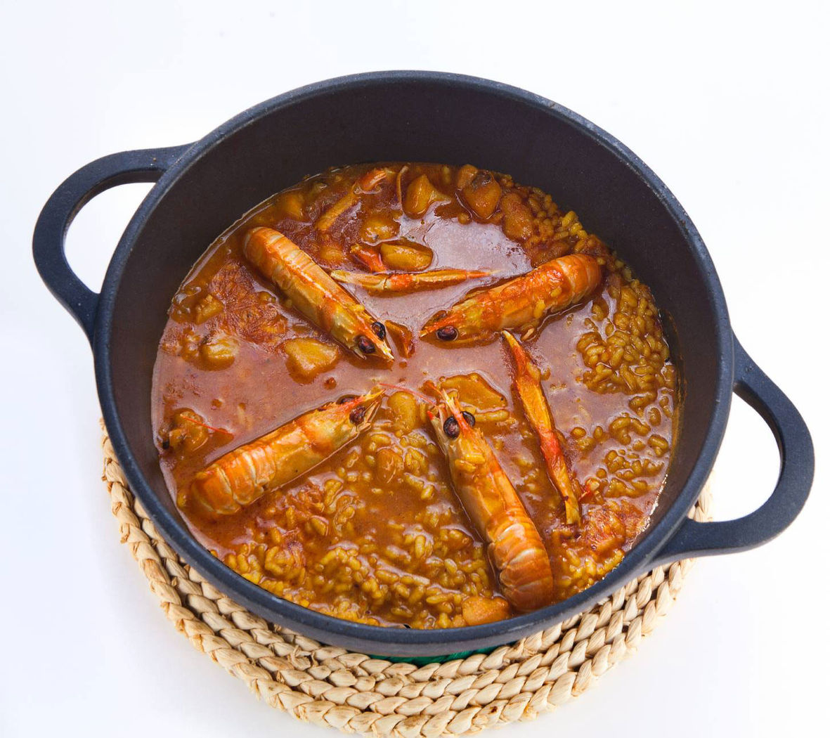 Restaurante Alicante Juan Abril - Platos - Arroz meloso con rape y cigalas