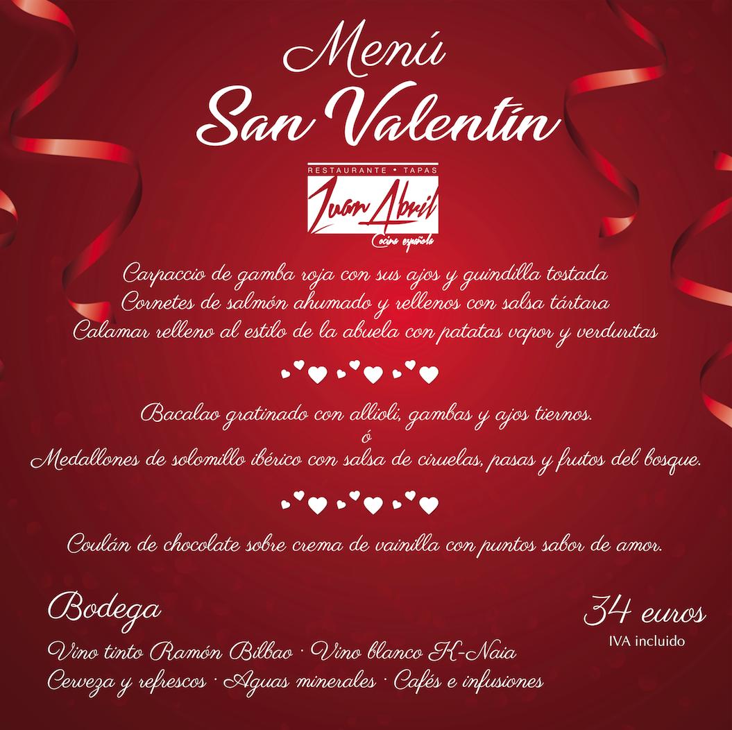 Cenar en Altea menú San Valentín